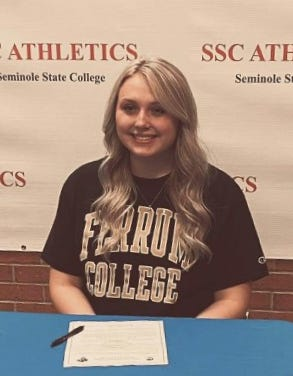 Former Booneville volleyball player Aleeah Blansett signed a letter of intent last Wednesday to continue her athletic career at Ferrum College in Virginia. Blansett currently plays for Seminole State College in Oklahoma.