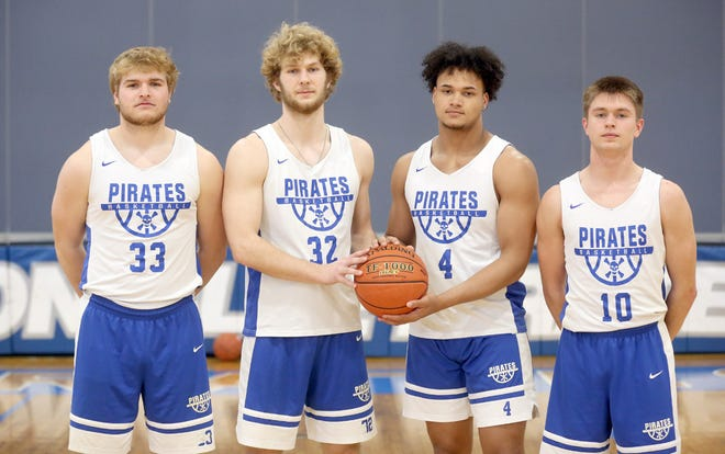 The Boonville Pirates basketball team recently had four members selected to the Tri-County All-Conference Team for the 2020-21 season. The Pirates finished third in the TCC behind Blair Oaks and Southern Boone with a record of 5-2. Players selected to the all-conference team for Boonville were (left to right) Lane West, Charlie Bronakowski, D.J. Wesolak and Luke Green.