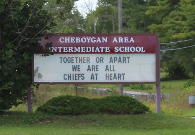 Although the staff members and students at Cheboygan Area Schools may not all be together due to the COVID-19 pandemic, they are all together in spirit as Cheboygan Chiefs, as the sign out front of the main campus states.