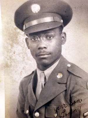 World War II veteran Tommy Hayes II during his time in the service. Hayes passed away on March 6, a month shy of his 97th birthday.