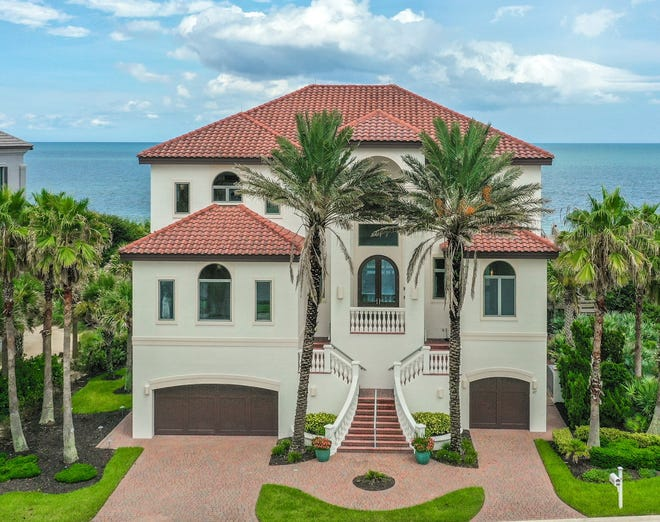 This oceanfront home on Calle Del Sur in the Hammock sold recently for $2.6 million. It has five bedrooms, four full baths and two half baths in 5,067 square feet of living space. It also has an elevator, a loft with a kitchenette, a pool and spa, a balcony and a patio. The house, built in 2008 on a 1/3-acre lot, has an interior inspired by the Guggenheim Museum in New York.