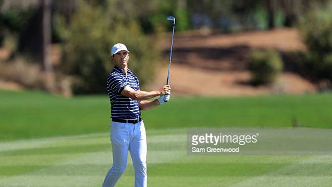 Billy Horschel hits an approach shot during the first round of The Players Championship on Thursday at the Players Stadium Course at TPC Sawgrass.