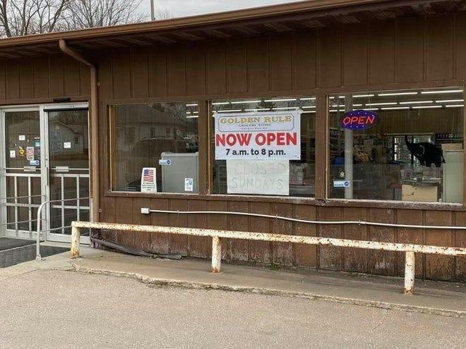 Linden Beard opened The Golden Rule Grocery in Roseville Feb. 16