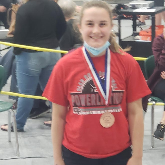 Glen Rose's Natalie Dollar placed fifth in her division and brought home a medal from the Region 2 meet in Dublin last Friday.