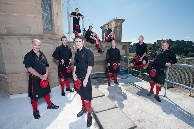 The Red Hot Chilli PIPERS — not the Peppers —is a nine-piece ensemble consisting of pipers, guitarists, keyboards, and drummers. They will kick off the Monroe Arts Center's virtual concert series this weekend.