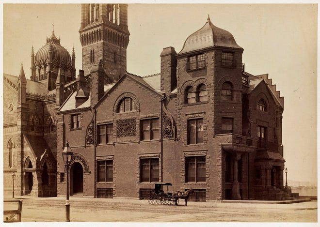 """This is the Boston Art Club as it was in the 1880s. According to Wilkipedia, """"The Boston Art Club was first conceived in Boston in 1854 with the consolidation of efforts between local artists, including Benjamin Champney, Alfred Ordway, Samuel Lancaster Gerry and Walter Brackett. Their desire was to form a democratic organization where the European tradition of independent, master-artists would be replaced with cooperation in the promotion, sale and education of art. They held their first official meeting on New Year's Day, 1855, when they named themselves the Boston Art Club."""""""