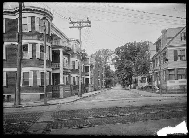 Here's what Pond Street in Jamaica Plain looked like in 1911. To learn more, visit the Jamaica Plain Historical at www.jphs.org.