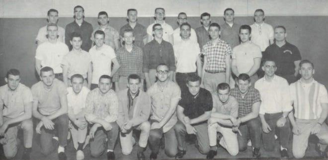 Members of the 1962 Varsity Railer Football team