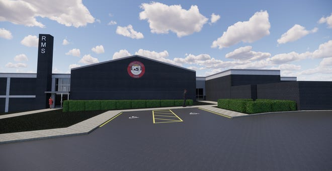 An artist's rendering of how Robertsville Middle School will look after renovations are complete. Oak Ridge Schools' Allen Thacker said contracted work in the whole school system will occur mainly over the summer with completion after fall break. Schools Superintendent Bruce Borchers said it could be as late as early winter.
