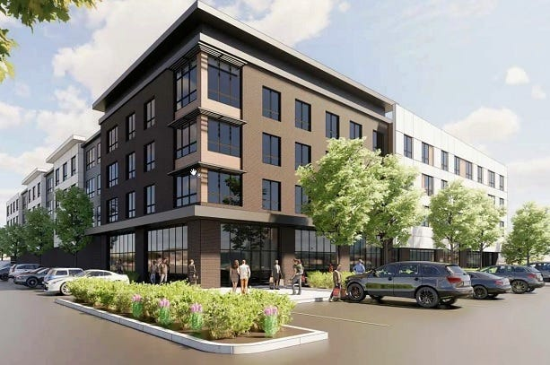 A rendering of the proposal for 655 Washington St. in Weymouth.