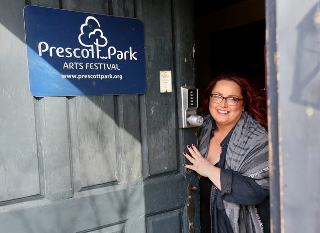 Courtney Perkins, the new executive director of the Prescott Park Arts Festival, looks forward to the upcoming season.