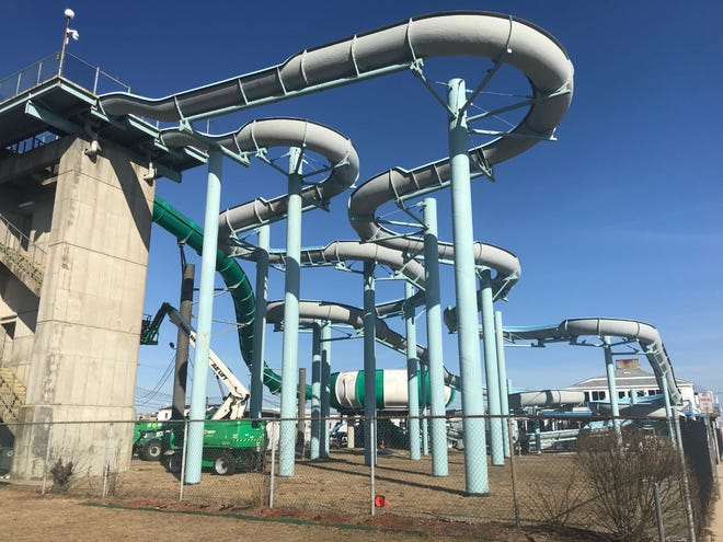 """TheCascade WaterslidePark at Hampton Beach is closing for good after more than 35 years.The park featured three """"gigantic"""" slides and a splashing pool."""
