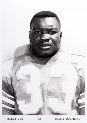 Former Dolphins running back Billy Joe. (Photo courtesy of Miami Dolphins)
