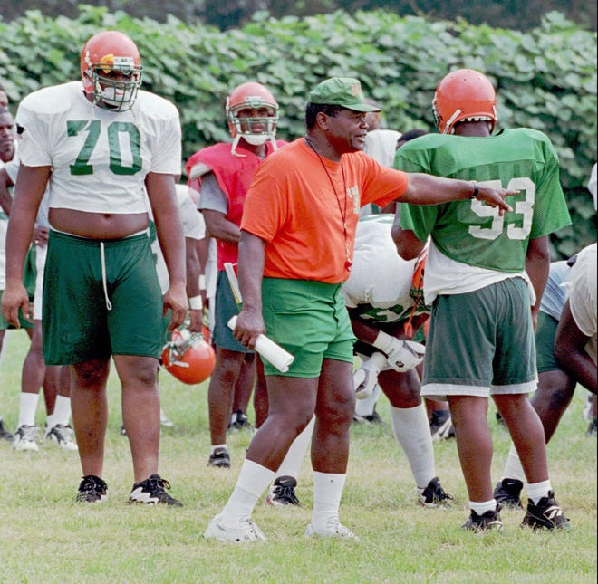 Billy Joe in an archived photo from his 11 seasons as coach at Florida A&M University.