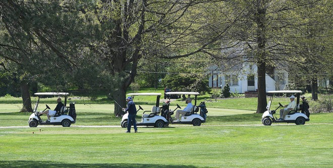 Golfers at Skyland Pines Golf Course in May 2020. (CantonRep.com file photo)