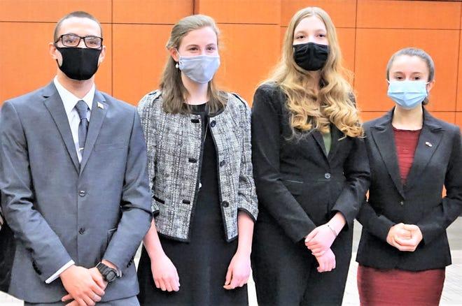 (From left) Andrew Jackson, Moira Gleason, Savannah McGlothlin and Emma Hall.