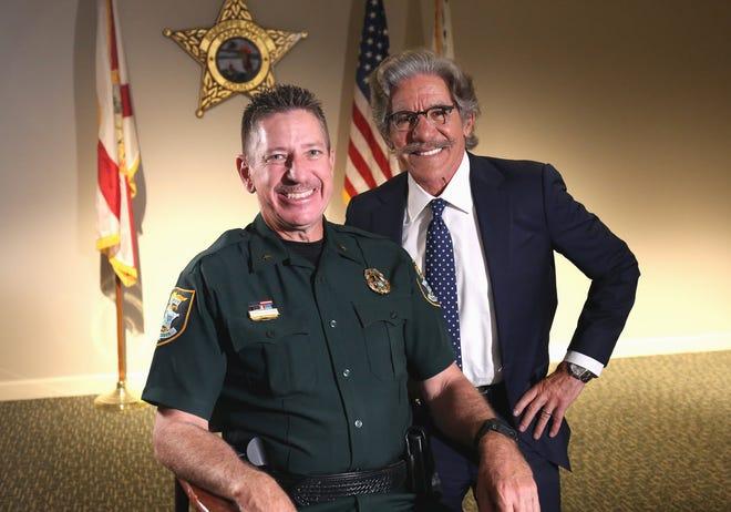 Fox News Correspondent At-Large Geraldo Rivera and Sarasota County Sheriff Kurt Hoffman in March 2021.