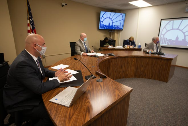 The Shawnee County commissioners discussed departmental budgets on Monday.