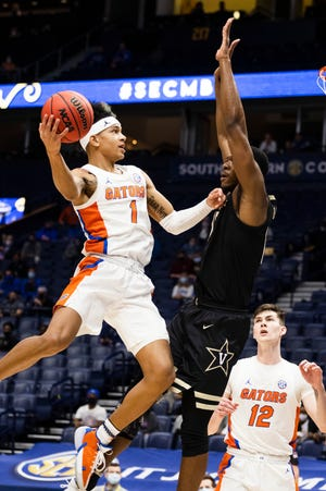 Tre Mann led the Gators with 22 points and six assists, along with seven rebounds in the win Thursday over Vanderbilt. Mann has scored 20+ in three consecutive appearances and is averaging 20.8 points over his past four games played.