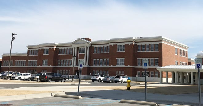 Albertville High School's campus is pictured Thursday. The Albertville City Board of Education is considering school calendar options for 2021-22.
