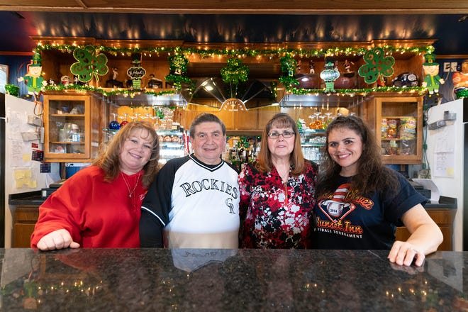From left, Tanja Barela, Chuck Chavez, Gerda Chavez and Cassy Gibbons own and operate the Sunset Inn at 2808 Thatcher Ave.