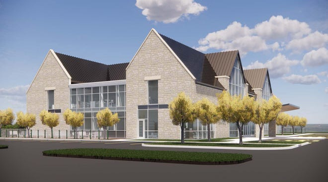 The Delaware County District Library's new Liberty Branch Library will be constructed at the northwest corner of Home and Steitz, with a spring 2022 expected completion.