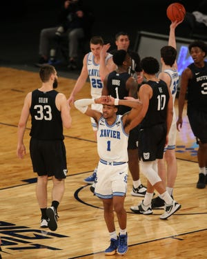 Paul Scruggs, reacting to a foul late in Xavier's loss to Butler on Wednesday,  and the Musketeers have stumbled down the stretch, losing six of their past eight games.
