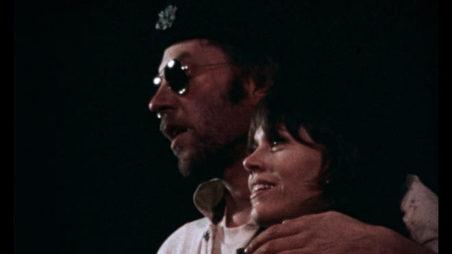 "Donald Sutherland and Jane Fonda in a scene from the newly-restored 1971 anti-Vietnam War documentary ""F.T.A."""