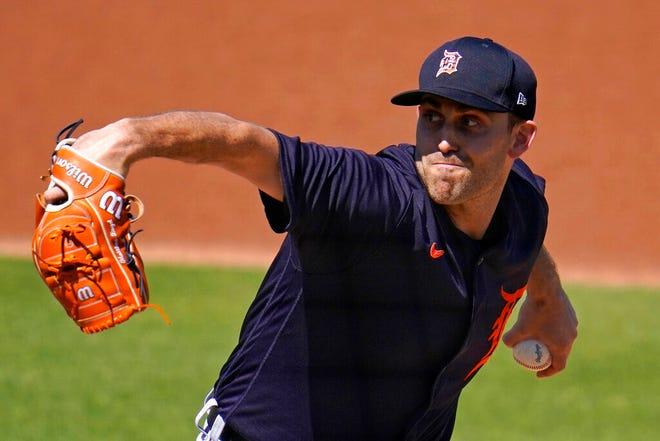 Pelempar Detroit Tigers, Matthew Boyd, melakukan inning pertama.