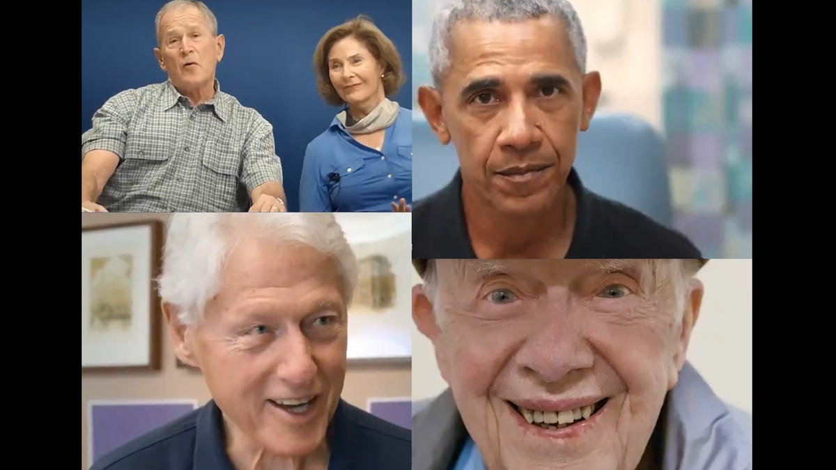 Vaccine ads feature every living president and spouse except one 3