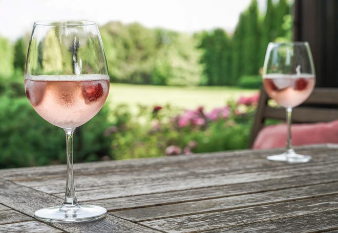 This rosé is notable for its incredible floral aromas, complemented by apple and cherry. A clean acidity lifts sweet cherry and spice flavors that linger pleasantly on the palate.