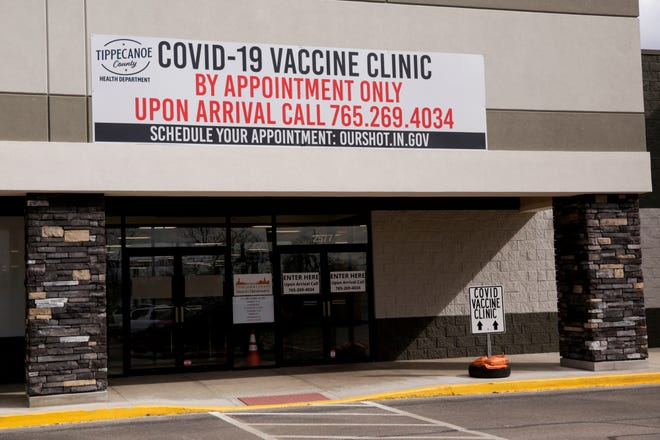 The Tippecanoe County COVID-19 Vaccine Clinic, 2577 Maple Point Drive, Wednesday, March 10, 2021 in Lafayette.