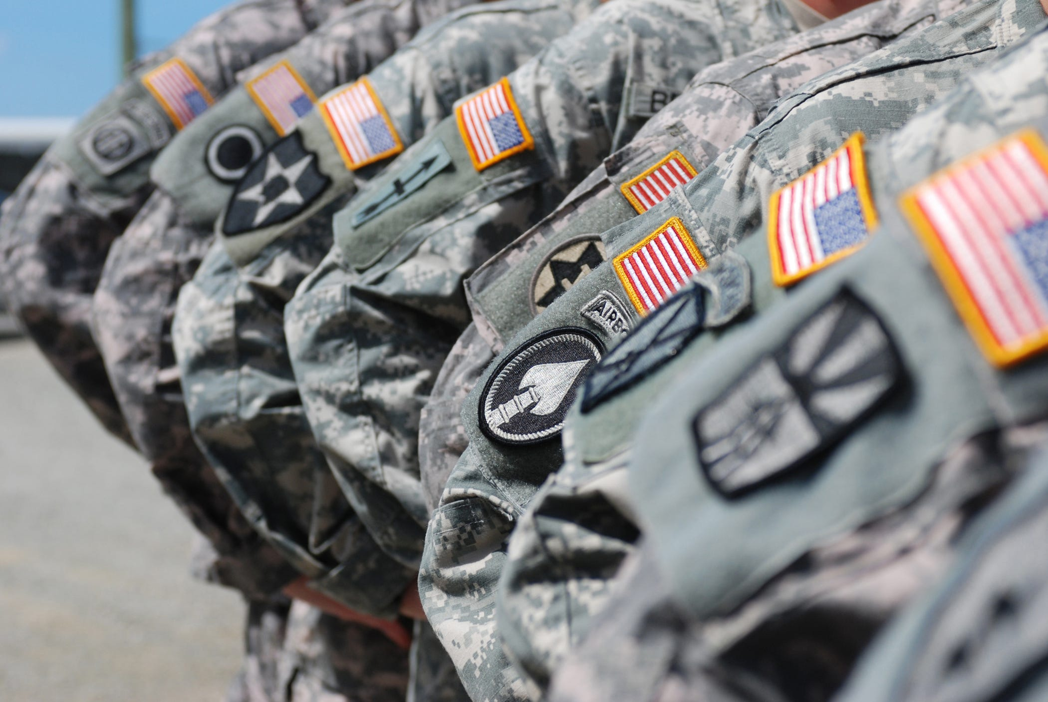 Right arm combat patches represent Soldiers' times serving with particular units in combat zones. Joint Task Force Guantanamo Soldiers have a wealth of experience and have served with numerous units in combat zones in their combined years of service. JTF Guantanamo conducts safe and humane care and custody of detained enemy combatants. The JTF conducts interrogation operations to collect strategic intelligence in support of the Global War on Terror, and supports law enforcement and war crimes investigations. JTF Guantanamo is committed to the safety and security of American service members and civilians working inside its detention facilities.