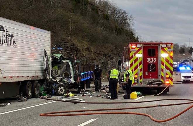 A crash on I-40E killed two people and injured two others Thursday afternoon.