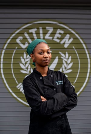 Mariah Ragland, owner of Radical Rabbit vegan soul food, poses at Citizens Kitchen Thursday, March 11, 2021 in Nashville, Tenn. The business is about to celebrate its third birthday making vegan takes on soul food classics.
