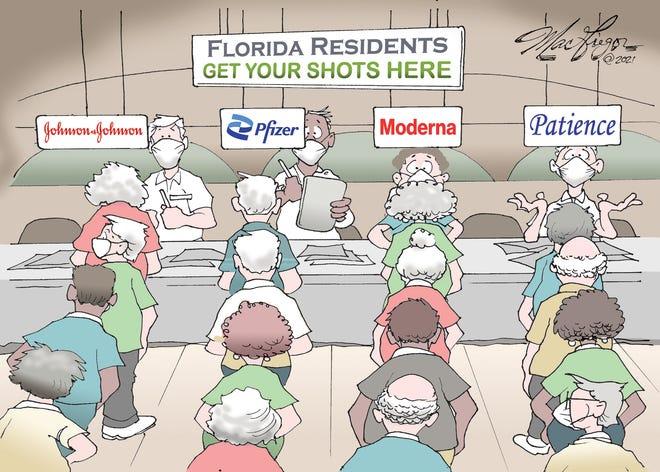 Florida vaccination lines.