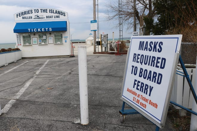 When the Miller Ferry begins its early spring season on Friday, riders will be required to where a mask to board trips to Put-in-Bay.