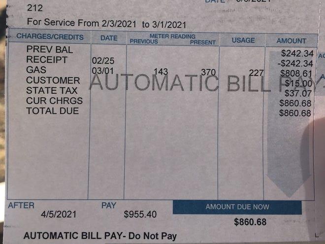 A bill from Crooks Municipal Utilities.