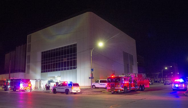 Wichita Falls firefighters responded to a fire Wednesday night at the Wichita County Jail on Seventh Street.