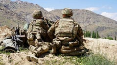 U.S. soldiers on June 6, 2019, in the Nerkh district of Wardak province in Afghanistan.