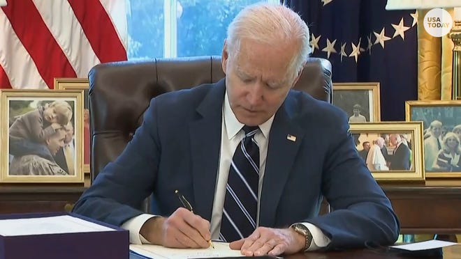 President Joe Biden signed the American Rescue Plan, the $1.9 trillion COVID-19 relief package that includes $1,400 stimulus checks.