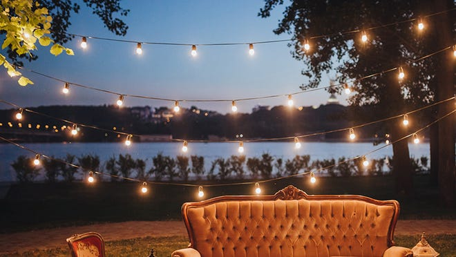 Light up your backyard with these vintage-like bulbs.
