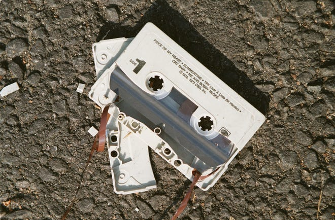 Photo illustration for a story on the demise of the cassette tape as a music format.