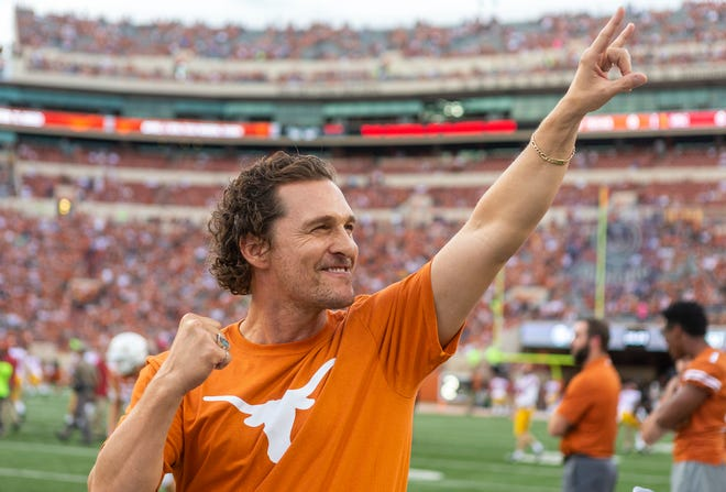 """""""Most Texans want to help themselves, but there's a lot of people who want to help themselves who do not have the ability to help themselves right now,"""" Matthew McConaughey said about the reason he's hosting a fundraiser titled We're Texas."""
