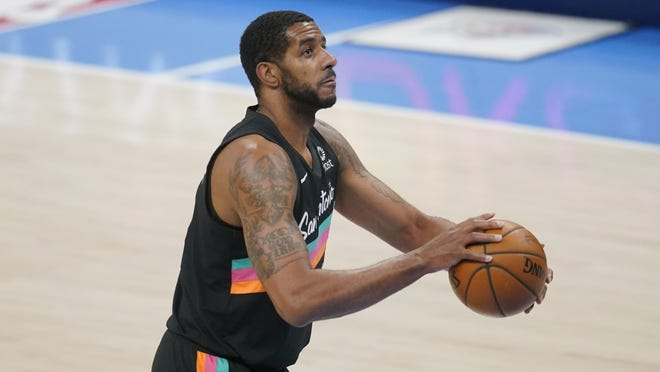 San Antonio center LaMarcus Aldridge is averaging a career low in rebounds and his fewest points and minutes since he was a rookie.