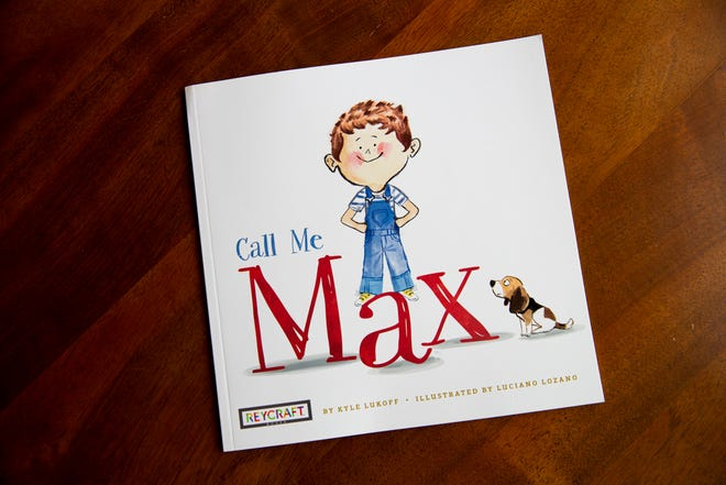 The book 'Call Me Max' by Kyle Lukoff can be seen on the coffee table of Jo Ivester's home in Austin. The picture book about a transgender child has ignited a debate in the Eanes school district over if and when students should talk about gender in the classroom.