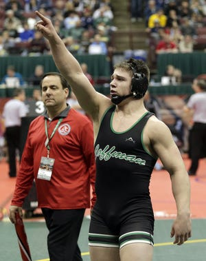 Two years and some anxious moments later, Dublin Coffman wrestler Seth Shumate will be back at the state wrestling tournament to defend his Division I title in the 195-pound weight class.