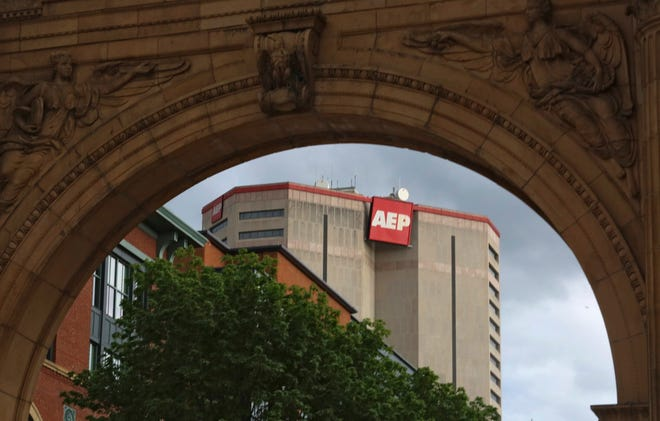 """AEP corporate headquarters in Columbus. Starting in June, AEP Energy will supply """"100% local Ohio-based clean energy to eligible residents and small businesses"""" through May 2034, according to a letter sent to many Columbus residents."""
