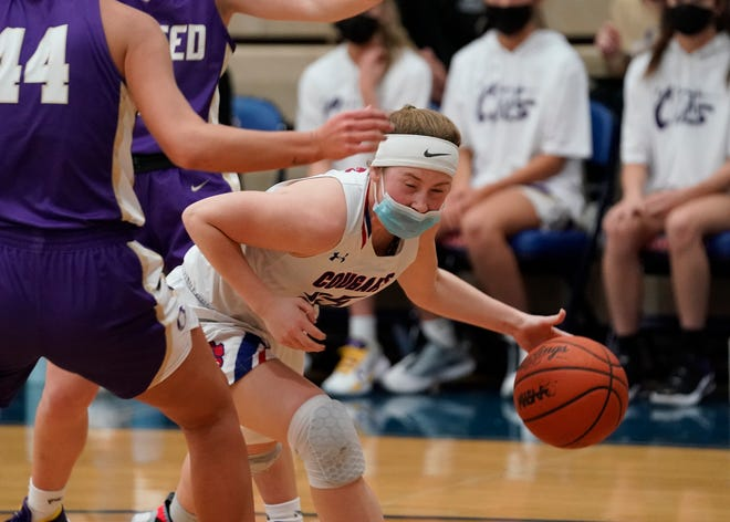 Lenawee Christian's Lizzy Scharer drives the ball during Thursday's game against Onsted.