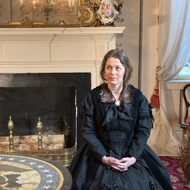 """Sherry Johnson portrays Sarah Polk at the James K. Polk Home & Museum as part of Watershed Public Theatre's upcoming production of """"Maury Voices."""""""